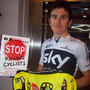 This year's winner, Geraint Thomas, backing Phil Skelton's campaign at the Tour de France