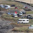 Campers and motorhomes at Hook Head