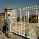 Reporter David Looby at the gates located within 20ft of the Norman fortification ruins