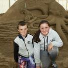 Ryan and Hayley Murphy Walsh from New Ross at the Duncannon sandsculpting festival