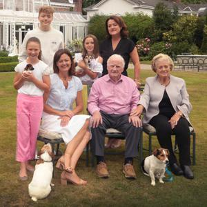 At Marlfield House: Hannah and Beau Willis, Laura Bowe, Ava Dowley, and Margaret, Ray and Mary Bowe