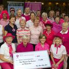 New Ross Golf Club members' presentation of €4,290 from their Pink Day to Breast Cancer Research