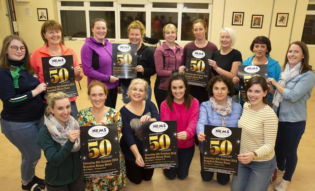 New Ross Musical Society members launching the 50th show