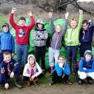 Some of the scouts who took part in the beach clean-up