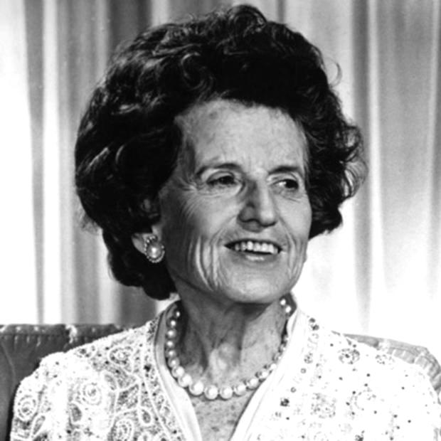 The late Rose Fitzgerald Kennedy