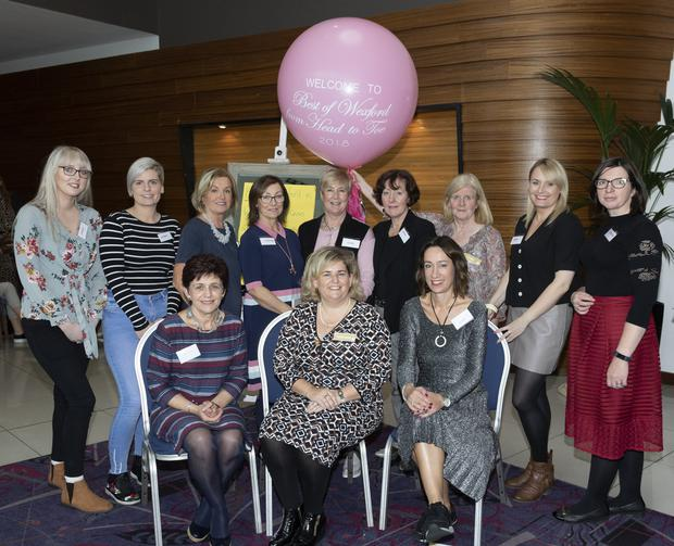 The organisers of the Best of Wexford from Head to Toe show were, back row: Lyndsey O'Gorman, Gemma Saunders, Alma Hynes, Christina Hore, Claire Harney, Maria Slevin, Freda Quinn, Niamh Farrell and Catherine Winters. Seated: Laura Lawlor, chairperson Mairead Sinnott and Rape Crisis Centre manager Clare Williams