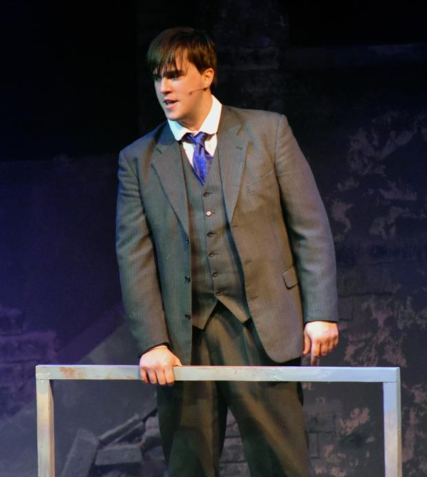 Chris Currid playing Michael Collins.