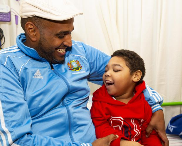 Asseel Osman with his father Mahad