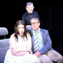 Specter cast members Seona O'Connor and Edward Hayden, seated, with director Peggy Hussey
