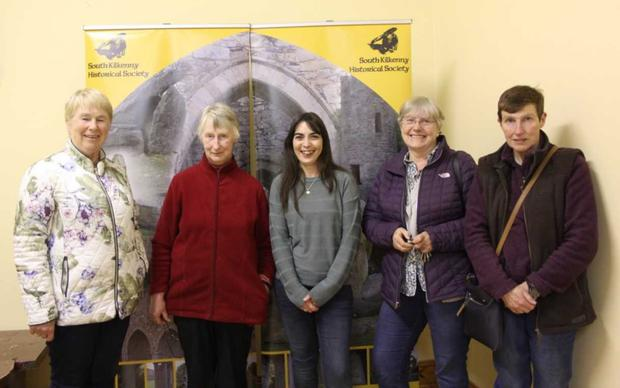 Imelda Moloney, Mary Alice Holden, Liz Gillis, Carmel Cummins and Mary O'Shea pictured at a recent group lecture