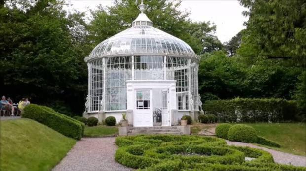 A replica conservatory at Woodstock Gardens made by Powers of Neville Street, New Ross