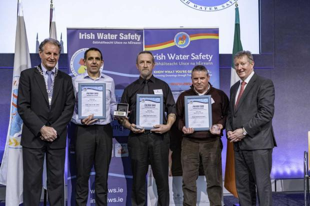The heroes of the Duncannon beach rescue receive their awards