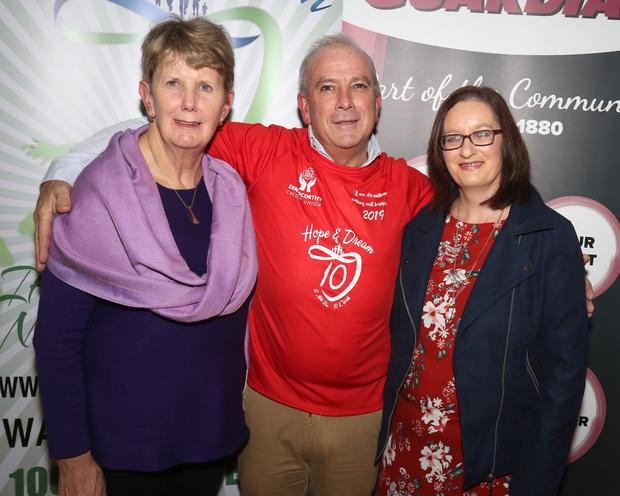 Una Doherty (chairperson Hope Centre), Michael Jordan (race director) and Denise McDonald (Hope Centre)