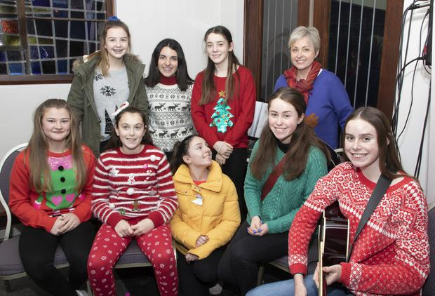 Just tops! – Sophie Byrne, Cathy Morrissey, Amilia Harpur, Tegan Fortune, Evie Connolly, Mireille Howlin, Chloe Morrissey, Carla Howlin and Clare McDonnell