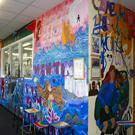 The mural on the art room wall at Our Lady of Lourdes school