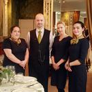 The Marlfield House wedding showcase team, Cindy and Jacques Fournier, Dawn Quick and Emma Burke