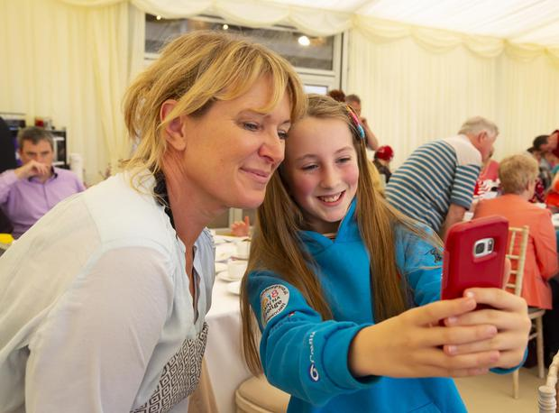Well-known chef Rachel Allen poses for selfie with Rachel Hussey from Taghmon at last September's Kennedy Summer School