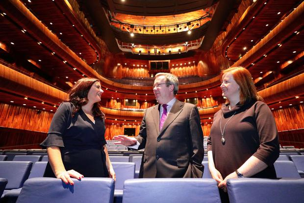 At the announcement of Datapac's €175,000 sponsorship deal with the National Opera House: Karen O'Connor (left), general manager, Datapac; David McLaughlin, CEO, National Opera House; and Aisling White, head of operations, National Opera House