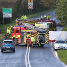 The scene of the fatal accident on the N30 at Ballymackessy between Clonroche and Enniscorthy last Friday which claimed the life of Mick Kehoe
