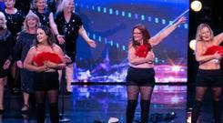 Therese Daunt-Smyth (second from right) on stage during an episode of Ireland's Got Talent