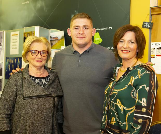 Tadhg Furlong with Mary and Pauline O'Neill