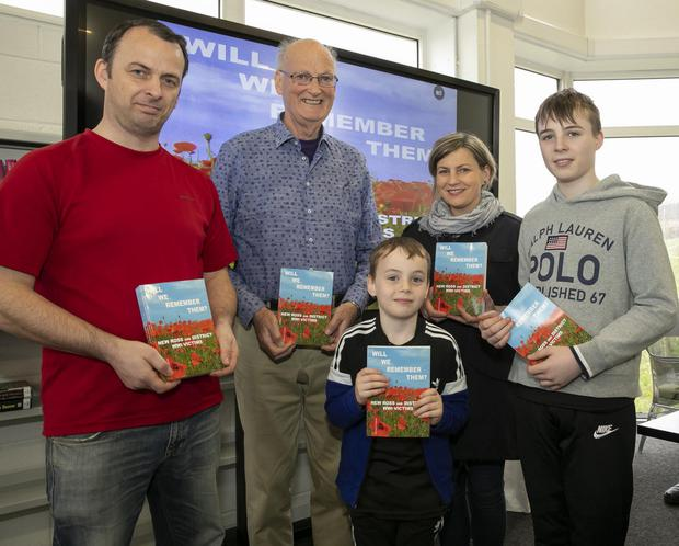 Author Michael Fottrell with his niece and nephews, Roderick, Emmett, Leonora and Ruairí Ryan