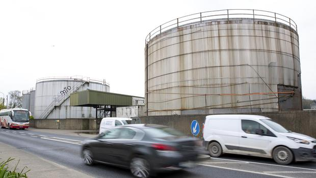 The oil tanks on the quay which are the subject of negotiations between the council and Department of Transport