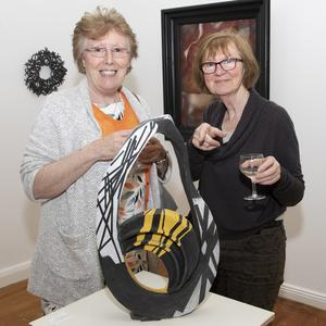 Artist Jane Campbell and Colette Donnelan