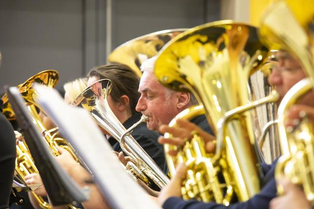 Members of the HFC brass band