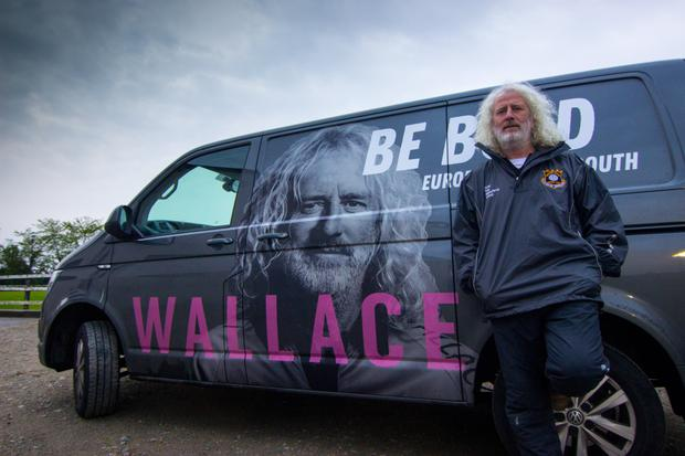 Mick Wallace pictured on the campaign trail in Mallow, Co Cork