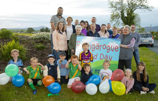Rathgarogue field day launch with members of the parent association, community development committee and local families