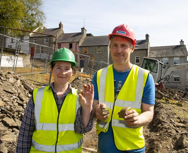 Catherine McLoughlin with Colm Moriarty of Stafford McLoughlin archaeologists