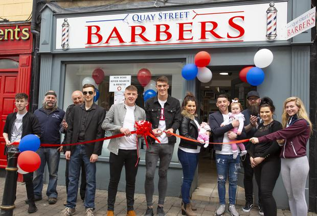 Quay Street Barbers is officially opened by Ryan Delaney