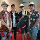 Wexford band L.I.V.E.L.Y. backstage at the Irish Youth Music Awards event