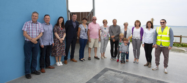 Members of the local community with officials from Wexford County Council at the opening of the new toilets in Duncannon