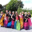 Some of the Moving Skirts dance group members at the Library Park, New Ross.