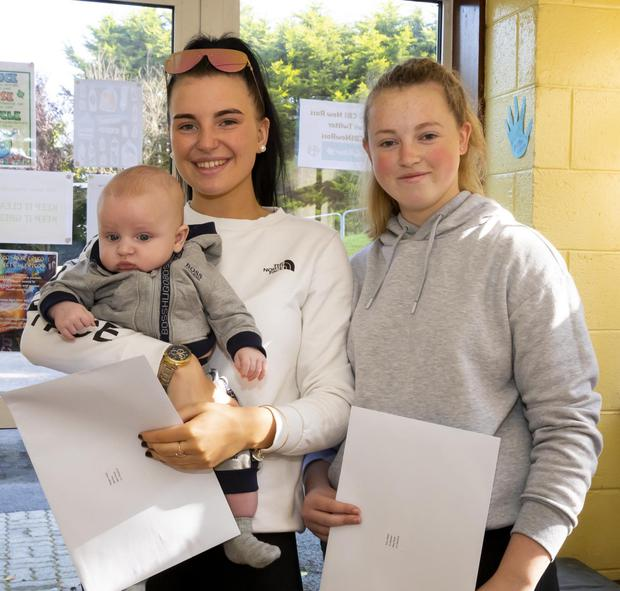 Megan Kiely with her son Jayden and Amy Walsh, New Ross