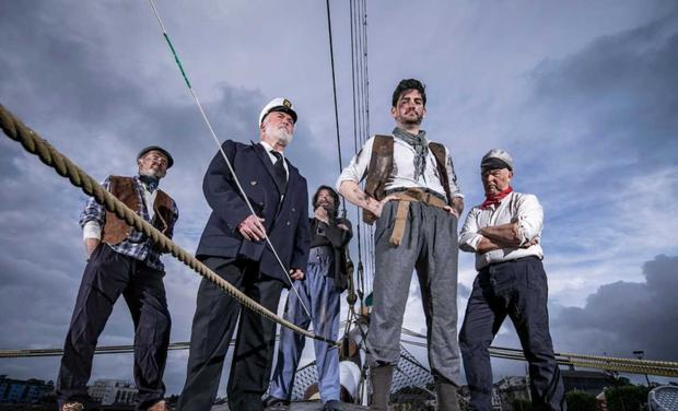 Actors in The Glencairn Cycle which will be staged on the Dunbrody Famine Ship