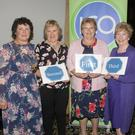 The public speaking competition prizegiving,from left: Mary D'Arcy (Federation President), Marie Kehoe, Anne Howlett, Nola Farrell and Catherine Dunleavy (Competition Secretary).