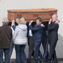 The funeral of Peter Tawse in St. Abban's Church, Adamstown on Friday (11th)