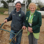 Eamon Murphy getting a helping hand from Ann May McHugh