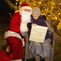 99-year-old Kitty Cosgrave from Ballinaboola with Santa