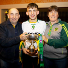 Paddy Murphy with his parents Pat and Catherine