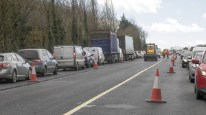 Traffic delays at Ferrycarrig on Friday (26th)