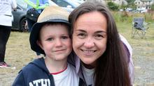 Oliver Murphy and his mum Catherine at the Relay for Life coffee morning in St Joseph's GAA Grounds
