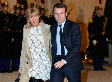 New French President Emmanuel Macron with his wife Brigitte Trogneux