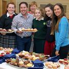 Chef Edward Hayden at the confectionery display with some of the people who attended his cookery demonstration in New Ross Credit Union