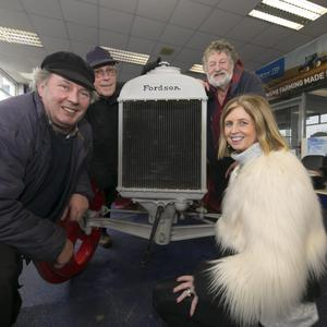 Jim Rochford, Locky Murphy and Paddy Denby from Wexford with Bernadette Murphy of Murphy's Motors