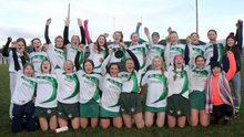 The Cloughbawn team celebrate after their superb victory in the Wexford Premier Minor camogie final against St. Martins