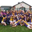 The Loreto squad celebrating after their Leinster final victory in Athy